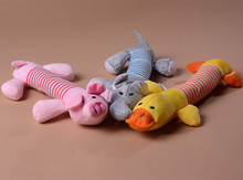 New Arrival Dog Toys Pet Puppy Chew Squeaker Squeaky Plush Sound Duck Pig & Elephant Toys 3 Designs