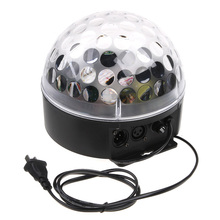 Mini LED RGB Crystal Magic Ball Stage Effect light high quality with RGB&Voice controlor DMX for Disco Stage bar use(China)