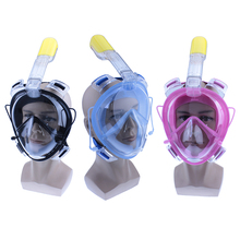 2017 Full Face Snorkeling Scuba Mask Underwater AntiFog mask diving snorkel set Swimming Snorkel diving goggles B2001SD