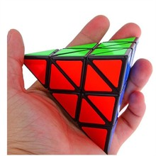 2015 New Shengshou Triangle Pyramid Pyraminx Black white Magic Cube professional Speed Puzzle Educational Special Toy Free Ship