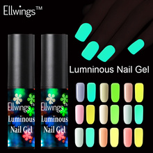 Ellwings neón fluorescente luminosa Gel de esmalte de uñas de Gel UV que brillan en la oscuridad de Gel de barniz de cambio de Color de uñas de Gel(China)