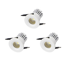 [DBF]3pcs/lot White Mini LED Downlight Under Cabinet Bookshelf Spot Light 3W for Jewelry Display Ceiling Recessed Lamp AC 220V