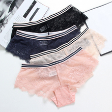 Buy TERMEZY 3pcs/pack Sexy Lace Transparent Panties Women Underwear Sexy Lace Lingerie Hollow Briefs Seamless Intimates Underpants