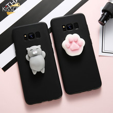 KISSCASE Soft Phone Cover for Samsung galaxy S8 S7 edge Case Cute Cat Capa for Samsung Galaxy J7 J5 2017 Cases Accessories Funda(China)