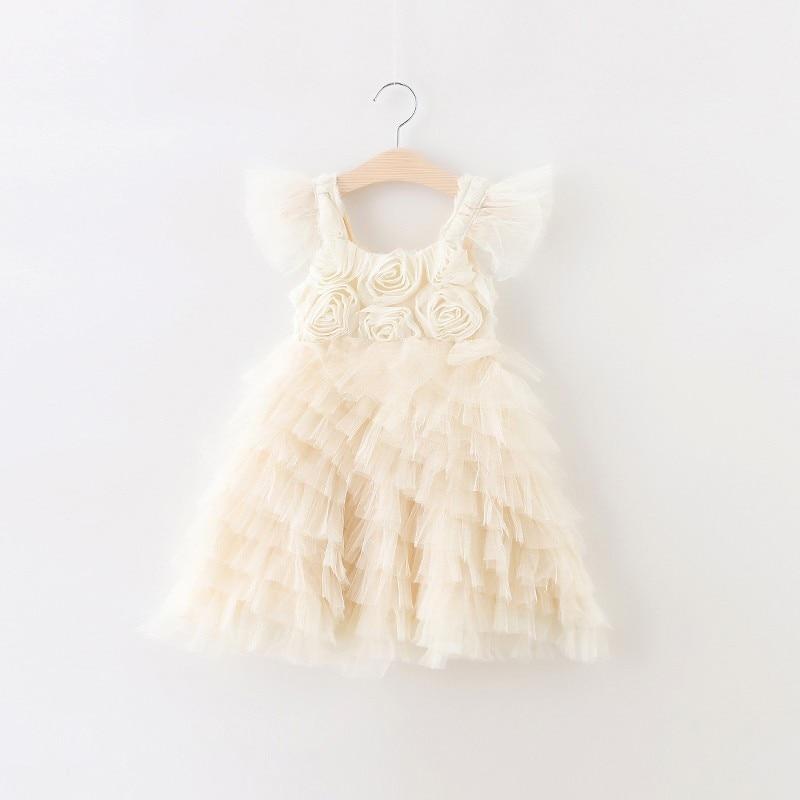 Girls Flowers dress princess dress , Birthday party dress, wedding dress , 5 pcs/lot  BB007<br><br>Aliexpress