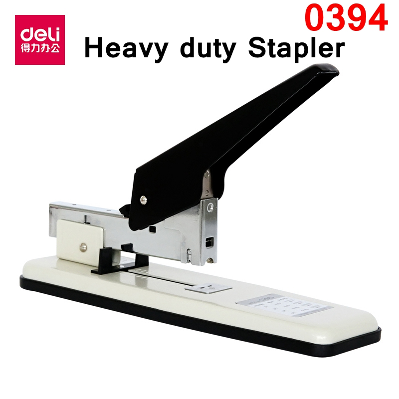Deli 0394 heavy duty stapler office supplier for 15-80 papers/70g paper with 23/6-23/13 staple retail paking<br>
