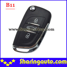 Free shipping (5 pieces)B11 3 Button Remote Key for URG200/KD900/KD200 with best quality