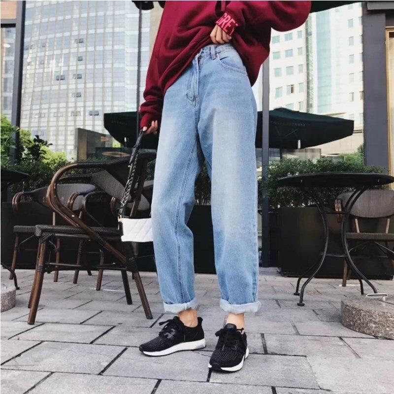 2017 Boyfriend Jeans Harem Pants Women Trousers Casual Plus Size Loose Fit Vintage Denim Pants High Waist JeansÎäåæäà è àêñåññóàðû<br><br>