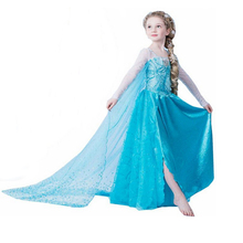 Girls Elsa Dress Children Princes Infants Elsa Anna Dresses For Girls Cosplay Clothes Christmas Costume Kids Cartoon Clothing