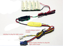 4 IN 1 RC Tractor Lights Big Current Enlarge Expansion Module with 20 pcs LED Ports and Limiting Circuit