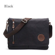 Buy Men's Black Vintage Messenger Bags Canvas Satchel School Military Shoulder Bag Boy's Travel Handbag Business Crossbody Bag for $22.69 in AliExpress store