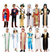 Parent child clothes Halloween Exotic Adult Kids Arab Suit Cosplay Costume Stage Performance Masquerade Party Egyptian clothing