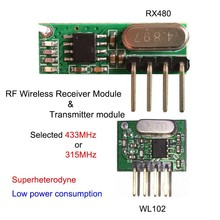 NEW433mhz rf Transmitter and Receiver superheterodyne UHF ASK remote control Module Kit small size low power For Arduino/ARM/MCU
