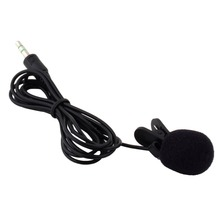 Portable Mini 3.5mm Tie Lapel Lavalier Clip On Microphone for Lectures Teaching 30Hz~15000Hz