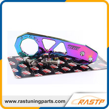 RASTP - Neo Chrome Passward JDM Rear Tow Hook Fit For Honda Civic Integra RSX With Logo LS-TH005