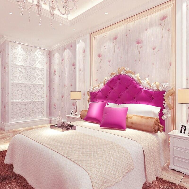 Pink Floral Wallpaper Roll 3D Wallpaper Walls Non Woven Wall Paper for Walls,Bedroom Wall Paper papel de parede para quarto<br>