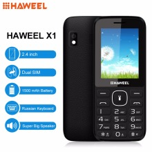 Russian English Keyboard Haweel X1 Cell Phone Elder Phone 2.4 inch Dual SIM Super Big Speaker Support FM TF Torch MP3 1500mAh