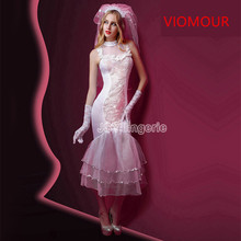 6037 New Porn Women Bride Sexy Lingerie Hot Erotic Lace Wedding Lingerie White See Through Costumes Role Play Elastic Underwear