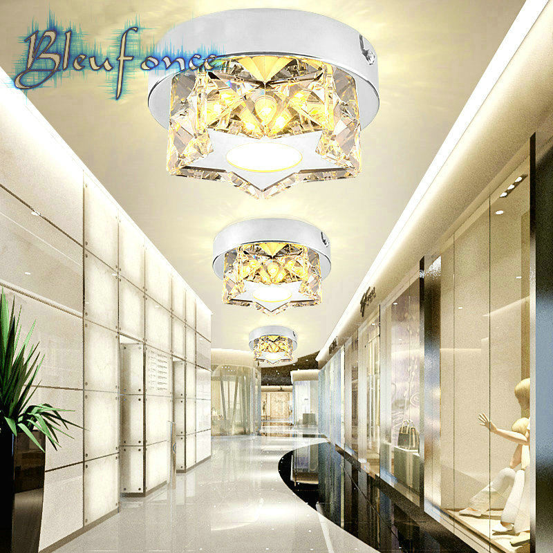 3W LED Ceiling Lamp Crystal Light Aisle Corridor Lights Porch Hall Ceiling Surface Mounted Ceiling Light AC85-265V Lighting<br><br>Aliexpress