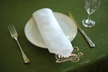 1pcs restaurant white cotton cloth napkins folded cotton jacquard fabric, lint-free cloth to wipe the cup 51*51cm