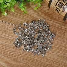 Fashion 50g/bag Randomly Mixed Antique Silver Plated Zinc Alloy Beads Caps For Jewelry Findings for DIY Making High Quality(China)