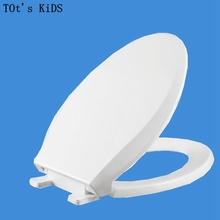 2017 toilet lid cover soft closing high quality white fashion toilet seat cover set hot selling antibacterial toilet seat plasti(China)