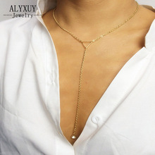 New Fashion accessories jewelry Triangle rhinestone necklace gift  for women girl wholesale N1609