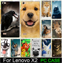 1PC/lot Bird eat The eyes Horse Cat Fox Dog Owl PC Paiting Cute Animal Cases For Lenovo Vibe X2 Cell Phone Case Cover Shell Capa