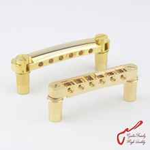 1 Set Gold GuitarFamily Tune-O-Matic Electric Guitar Bridge And Tailpiece For Epiphone Schecter LTD