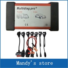 Multidiag Pro+ 2015.R1 /2014.R3 software for More Cars/Trucks and OBD2 Scanner TCS cdp pro plus diagnostic tool+8 Car Cables Set