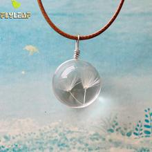 Buy Flyleaf Handmade Ball Natural Dried white Dandelion Necklaces & Pendants Women Casual Style Girl Gift Jewelry Accessories for $1.75 in AliExpress store