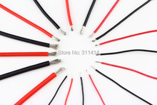 1meter Red+1meter Black 10 12 14 16 18 20 22 24 26 AWG Heatproof Soft Silicone Silica Gel Wire Connect Cable For RC Model