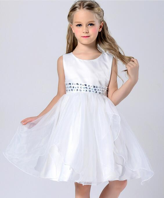 kids girls party princess dresses Children Clothing For Girls Fashion Flower Girl Dress Cute  Dress Kids Clothes 2-13 Y<br><br>Aliexpress