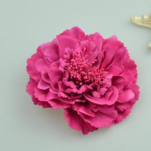 Fashion Hair flower Hair Accessories Fabric Flower Hair Clip Flower Corsage Brooch Pins Women Flower Headwear Wedding Party Gift(China)
