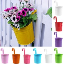 Fashion Metal Iron Flower Pot Hanging Balcony Garden Plant Planter Home Decor