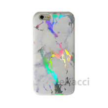 Fashion Electroplate Chrome Shining Marble Stone Case for iPhone X cases 3D Soft Gel TPU IMD Cover for iPhone 6s 6plus 7plus(China)