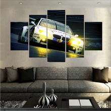 HD Print 5pieces New Style BMW Spuer Sports Car canvas painting modern home decor wall art picture living room decor art /PT1279(China)