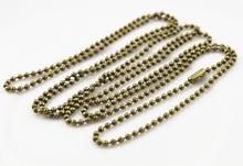 5pcs 1.5mm Bronze Plated  Ball Beads Chain Necklace Bead Connector 65cm(25.5 inch)  (Z1-07)