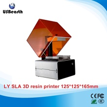 High resolution layer height 0.025mm LY SLA-01 SLA 3D printer 3D resin printer for jewllery prototyping dentistry toys mould(China)