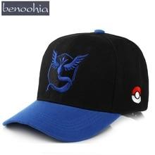 BBS019 New adult baseball cap Summer Pokemon Go Pattern Snapback Hats Casquette Sun hats