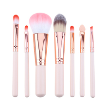 7 Pcs Mini Makeup brush Set Pink Cosmetics Kit de pinceis de maquiagem Make up Tool Hair Foundation Brushes Kit(China)