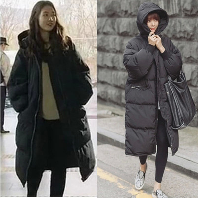 2017 Movie Star Luxury Women and Men Winter Thick Plus Size Coat Black Loose Big Cotton Warm Long Couple Long Coat Outwear 4XLОдежда и ак�е��уары<br><br><br>Aliexpress