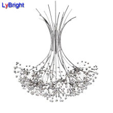 Luxury North European Top K9 Crystal Chandelier Lighting AC 220V 13 Lights Hotel Hall Living Room G4 Bulbs