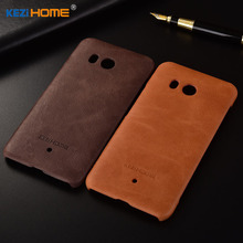 for HTC U11 case KEZiHOME Frosted Genuine Leather Hard Back Cover capa For HTC U11 U 11 5.5 inch Phone Protector cases coque