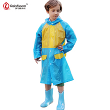 Rainfreem Impermeable Children's Raincoat Plastic Transparent Rain Coat Waterproof Kids Rainwear Rain Gear Poncho