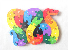 2017 Intelligence Puzzle 26 English Letter Digital Cognitive Wooden Jigsaw Puzzle Pieces Dinosaur Model Children Toys