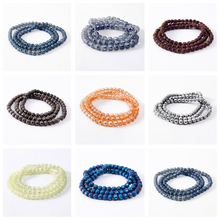 4mm 6mm 8mm Wholesale Faceted Football bead Shiny Charms Crystal Beads Handmade loose Glass Beads for Bracelets Jewelry Making(China)