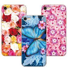 Buy Floral Art Painted Flower Phone Cases Apple 7 iPhone 7 Case Cover funda iPhone 7 iPhone7 apple capa 4.7 inch+Gift for $1.35 in AliExpress store