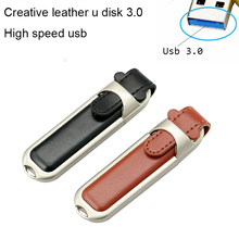 High speed!New leather chain USB 3.0 usb flash drives thumb pendrive u disk usb creativo memory stick 4GB 8GB 16GB 32GB 64GB(China)