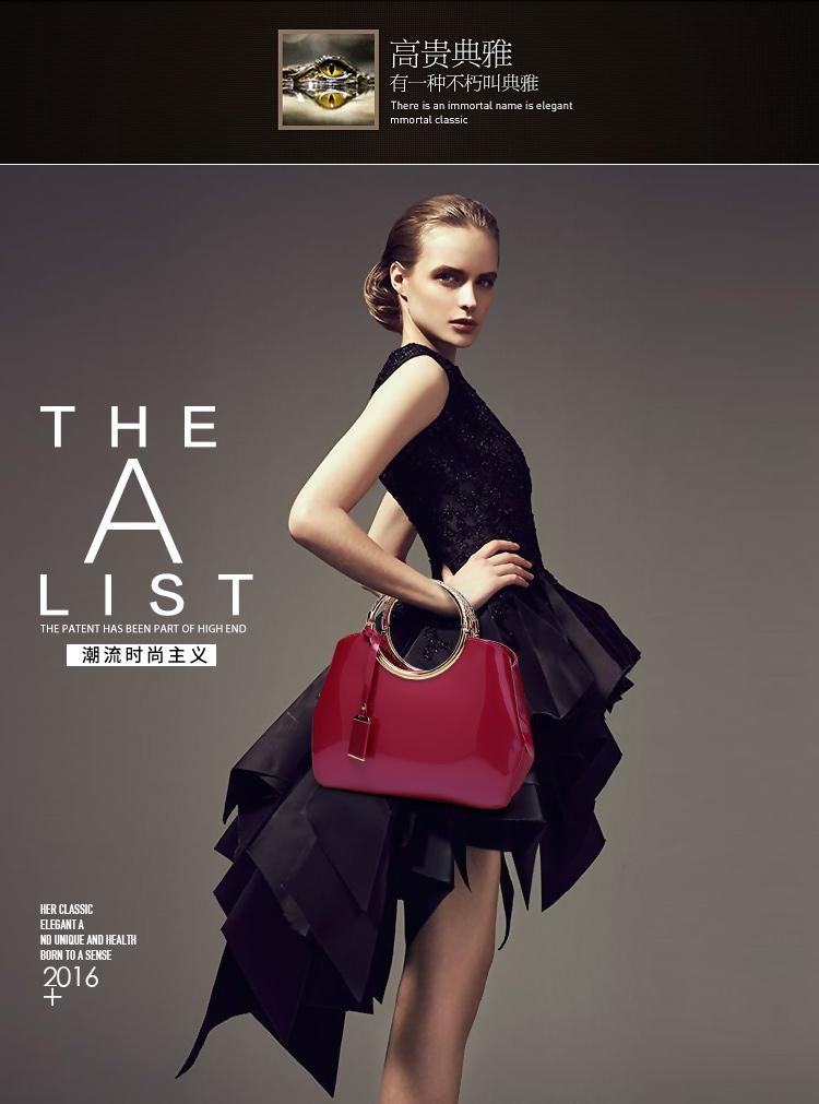 New High Quality Patent Leather Women bag Ladies Cross Body messenger Shoulder Bags Handbags Women Famous Brands bolsa feminina (4)